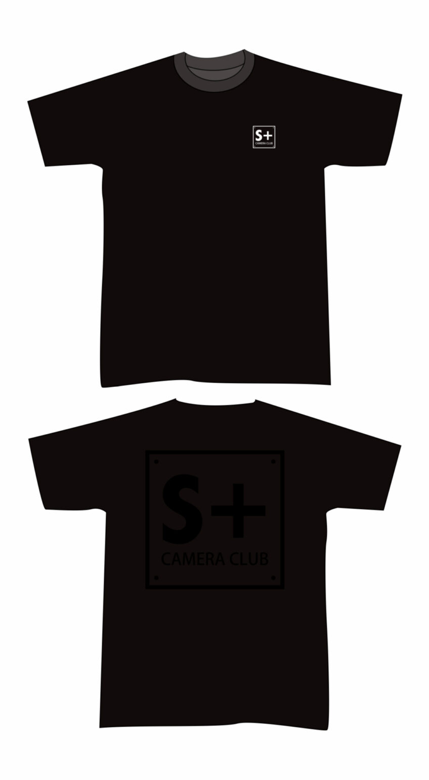 【S+CAMERACLUB】エスプラスカメラクラブ ロゴ入りTシャツ ブラック